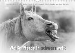 Emotionale Momente: Weiße Pferde in schwarzweiß. (Wandkalender 2021 DIN A3 quer) von Gerlach,  Ingo
