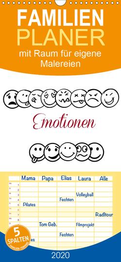 Emotionen mit Raum für eigene Malereien – Familienplaner hoch (Wandkalender 2020 , 21 cm x 45 cm, hoch) von Hultsch,  Heike