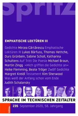 Emphatische Lektüren III von Geiger,  Thomas, Miller,  Norbert, Sartorius,  Joachim
