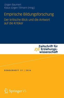Empirische Bildungsforschung von Baumert,  Jürgen, Tillmann,  Klaus-Jürgen