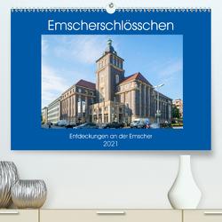 Emscher-Schlösschen (Premium, hochwertiger DIN A2 Wandkalender 2021, Kunstdruck in Hochglanz) von Hermann,  Bernd