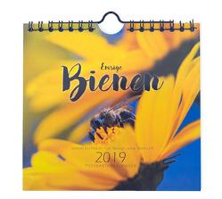 Emsige Bienen (Mini-Wandkalender / Postkartenkalender 2019) Bienenkalender von Näbrig,  Daniel