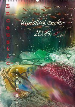 Encaustic Kunstkalender 2019 (Wandkalender 2019 DIN A2 hoch) von Kröll,  Ulrike