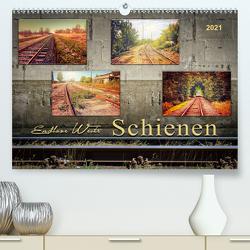 Endlose Weite – Schienen (Premium, hochwertiger DIN A2 Wandkalender 2021, Kunstdruck in Hochglanz) von Roder,  Peter