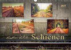 Endlose Weite – Schienen (Wandkalender 2021 DIN A3 quer) von Roder,  Peter
