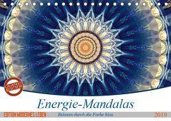 Energie-Mandalas in blau (Tischkalender 2019 DIN A5 quer) von Bässler,  Christine