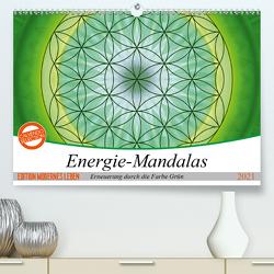 Energie – Mandalas in Grün, Erneuerung durch die Farbe Grün (Premium, hochwertiger DIN A2 Wandkalender 2021, Kunstdruck in Hochglanz) von Bässler,  Christine