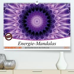 Energie – Mandalas, Spiritualität durch die Farbe Lila (Premium, hochwertiger DIN A2 Wandkalender 2021, Kunstdruck in Hochglanz) von Bässler,  Christine