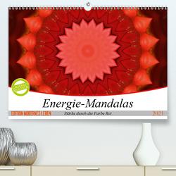 Energie-Mandalas Stärke durch die Farbe Rot (Premium, hochwertiger DIN A2 Wandkalender 2021, Kunstdruck in Hochglanz) von Bässler,  Christine