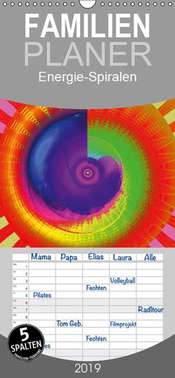 Energie-Spiralen – Familienplaner hoch (Wandkalender 2019 , 21 cm x 45 cm, hoch) von Labusch,  Ramon