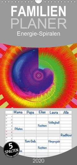 Energie-Spiralen – Familienplaner hoch (Wandkalender 2020 , 21 cm x 45 cm, hoch) von Labusch,  Ramon