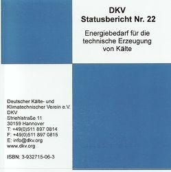 Energiebedarf für die technische Erzeugung von Kälte von Jähn,  K, Kruse,  H, Steimle,  F., Wobst,  E