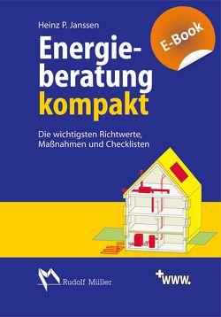 Energieberatung kompakt von Janssen,  Heinz P