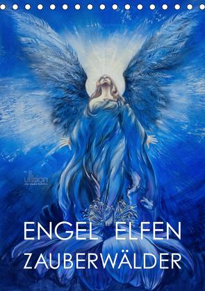 Engel Elfen Zauberwälder (Tischkalender 2021 DIN A5 hoch) von Allgaier - www.ullision.com,  Ulrich