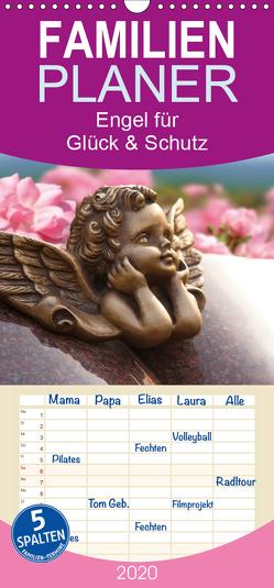 Engel für Glück & Schutz – Familienplaner hoch (Wandkalender 2020 , 21 cm x 45 cm, hoch) von Klattis