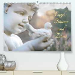 Engel – Träume und Zitate (Premium, hochwertiger DIN A2 Wandkalender 2021, Kunstdruck in Hochglanz) von Riedel,  Tanja