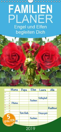 Engel und Elfen begleiten Dich – Familienplaner hoch (Wandkalender 2019 <strong>21 cm x 45 cm</strong> hoch) von Hubner,  Katharina