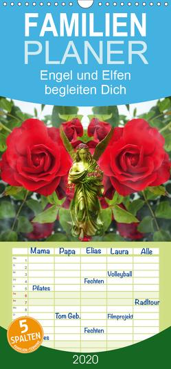 Engel und Elfen begleiten Dich – Familienplaner hoch (Wandkalender 2020 , 21 cm x 45 cm, hoch) von Hubner,  Katharina