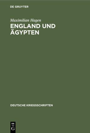 England und Ägypten von Hagen,  Maximilian