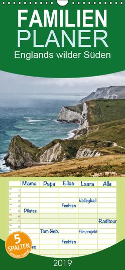 Englands wilder Süden – Familienplaner hoch (Wandkalender 2019 , 21 cm x 45 cm, hoch) von Becker,  Thomas