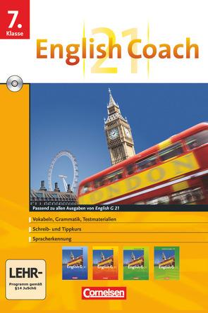 English G 21 – English Coach 21 (zu allen Ausgaben) – Lernsoftware für zu Hause – Band 3: 7. Schuljahr von Pankhurst,  James, RITTER ,  MARKUS, Thiele,  Angelika