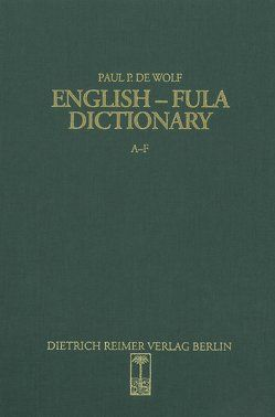 English-Fula Dictionary von Wolf,  P P de