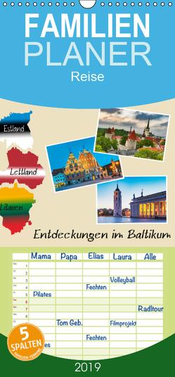 Entdeckungen im Baltikum – Familienplaner hoch (Wandkalender 2019 , 21 cm x 45 cm, hoch) von Kirsch,  Gunter