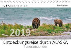 Entdeckungsreise durch ALASKA Panoramabilder (Tischkalender 2019 DIN A5 quer) von Wilczek,  Dieter-M.