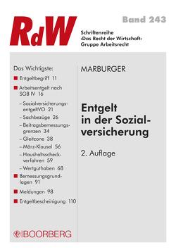 Entgelt in der Sozialversicherung von Marburger,  Horst