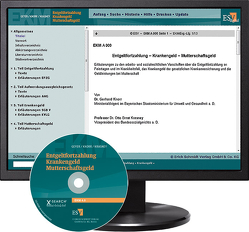 Entgeltfortzahlung – Krankengeld – Mutterschaftsgeld – bei Kombibezug Print und CD-ROM von Knorr,  Gerhard, Krasney,  Otto Ernst