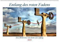Entlang des roten Fadens (Wandkalender 2019 DIN A2 quer) von glandarius,  Garrulus