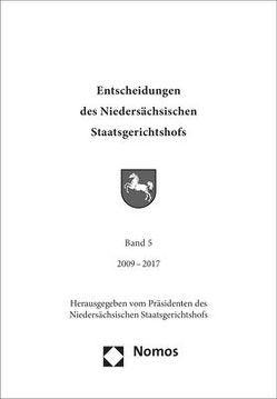 Entscheidungen des Niedersächsischen Staatsgerichtshofs von Niedersächsischen Staatsgerichtshof