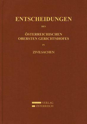 Entscheidungen des Österreichischen Gerichtshofes in Zivilsachen von Amtlich veröffentlicht