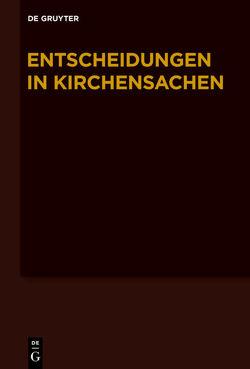 Entscheidungen in Kirchensachen seit 1946 / 1.7.-31.12.2009 von Baldus,  Manfred, Muckel,  Stefan