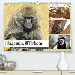 Entspanntes Affenleben (Premium, hochwertiger DIN A2 Wandkalender 2020, Kunstdruck in Hochglanz) von Herzog,  Michael