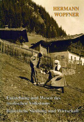 Entstehung und Wesen des tirolischen Volkstums. Bäuerliche Siedlung und Wirtschaft von Wopfner,  Hermann