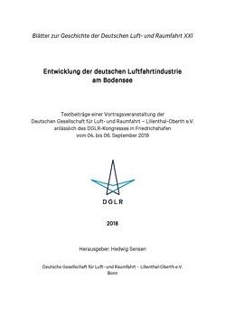 Entwicklung der deutschen Luftfahrtindustrie am Bodensee von Sensen,  Hedwig