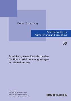Entwicklung eines Staubabscheiders für Biomassekleinfeuerungsanlagen mit Tiefenfiltration von Neuerburg,  Florian
