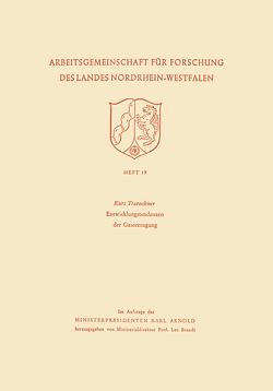 Entwicklungstendenzen der Gaserzeugung von Traenckner,  Kurt