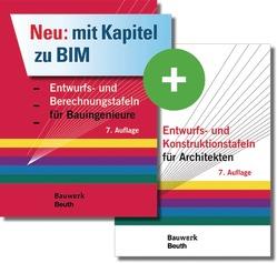 Entwurfs- und Berechnungstafeln für Bauingenieure und Entwurfs- und Konstruktionstafeln für Architekten von Holschemacher,  Klaus
