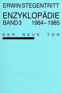 Enzyklopädie / Enzyklopädie von Boltanski,  Christian, Stegentritt,  Erwin