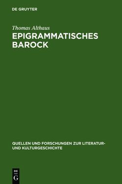 Epigrammatisches Barock von Althaus,  Thomas