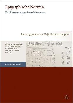 Epigraphische Notizen von Harter-Uibopuu,  Kaja