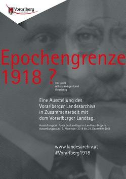 Epochengrenze 1918? von Schmidgall,  Markus