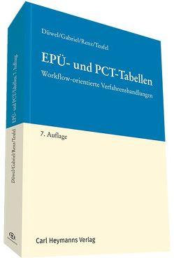 EPÜ- und PCT-Tabellen von Düwel,  Isabell, Gabriel,  Markus, Renz,  Christian, Teufel,  Benjamin