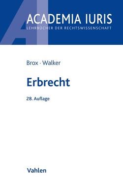 Erbrecht von Brox,  Hans, Walker,  Wolf-Dietrich