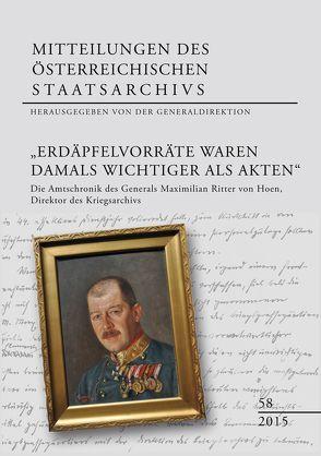 """""""Erdäpfelvorräte waren damals wichtiger als Akten"""" von Generaldirektion des österreichischen"""