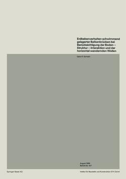 Erdbebenverhalten schwimmend gelagerter Balkenbrücken bei Berücksichtigung der Boden — Struktur — Interaktion und der horizontal wandernden Wellen von Somaini,  D.R.
