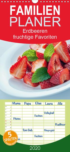 Erdbeeren – fruchtige Favoriten – Familienplaner hoch (Wandkalender 2020 , 21 cm x 45 cm, hoch) von Kaina,  Miriam
