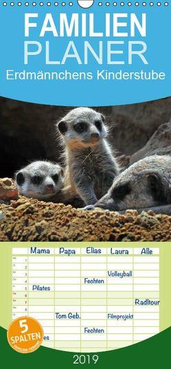 Erdmännchens Kinderstube – Familienplaner hoch (Wandkalender 2019 , 21 cm x 45 cm, hoch) von Laue,  Ingo